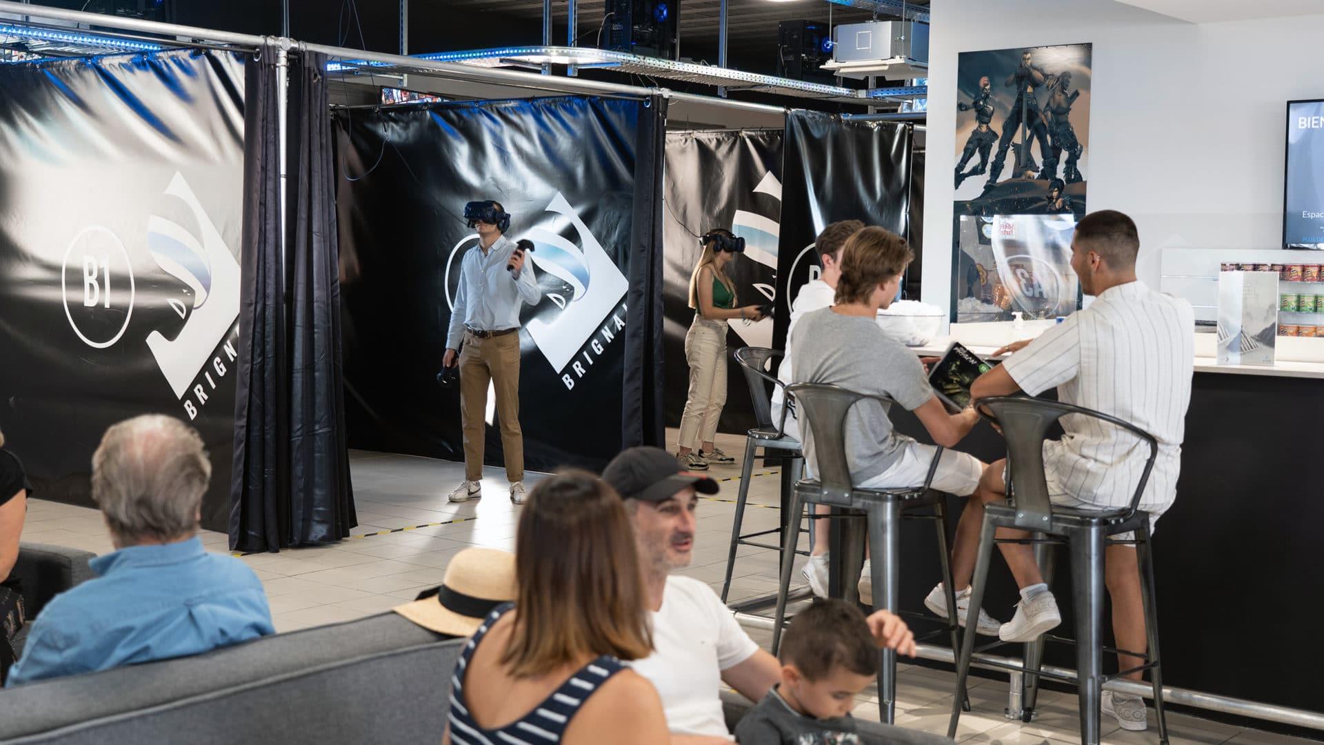 Activité de réalité virtuelle avec des adolescents